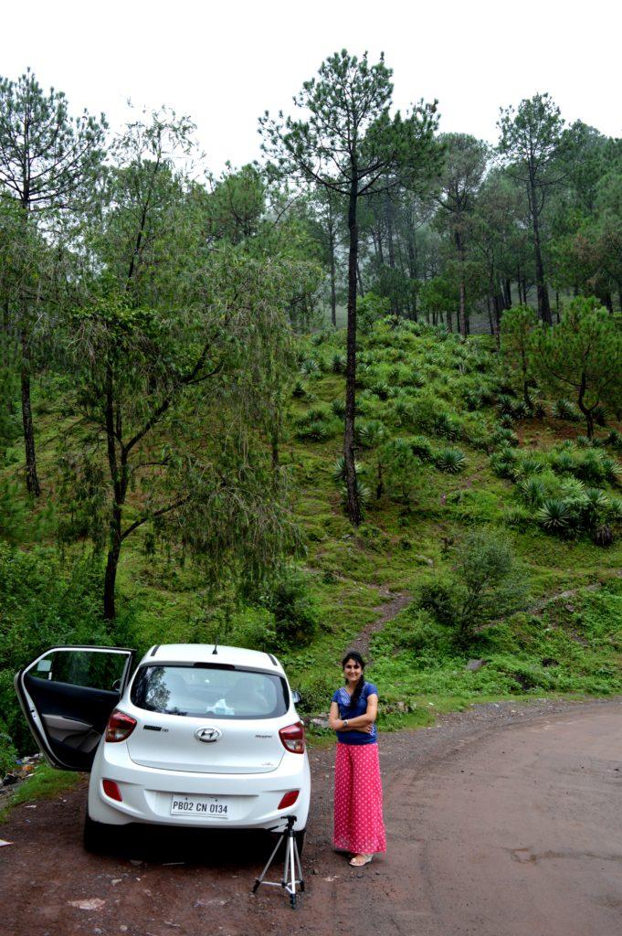 Somewhere midway @Kasauli, H.P. @traxplorers