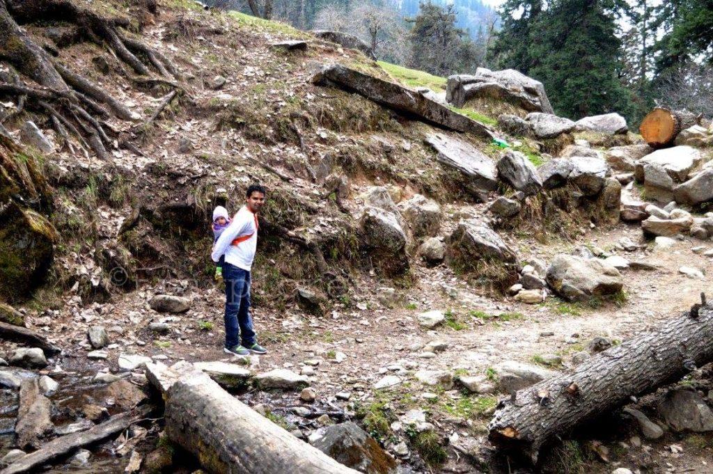 Daddy and Daughter Trekking Together at Hampta Pass Trek (Manali) H.P